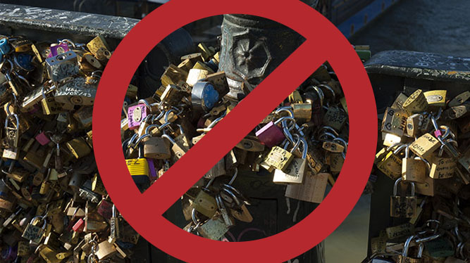 Sign Our Petition to Ban 'Love Locks!' Save the Historic Bridges of Paris